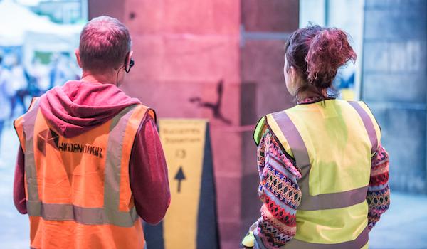 Volunteers at Hidden Door 2017